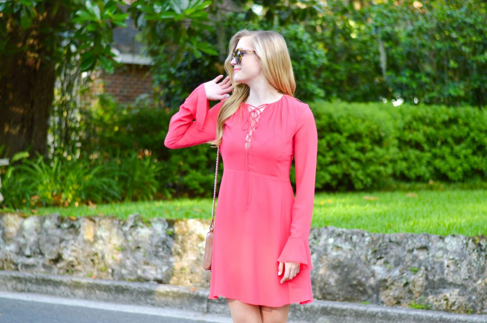 styelled blog, elle elisabeth, fashion blogger, style blogger, summer style, summer trends, sun dresses, wayf, dolce vita, coral, lace-up, bell sleeves, - 02