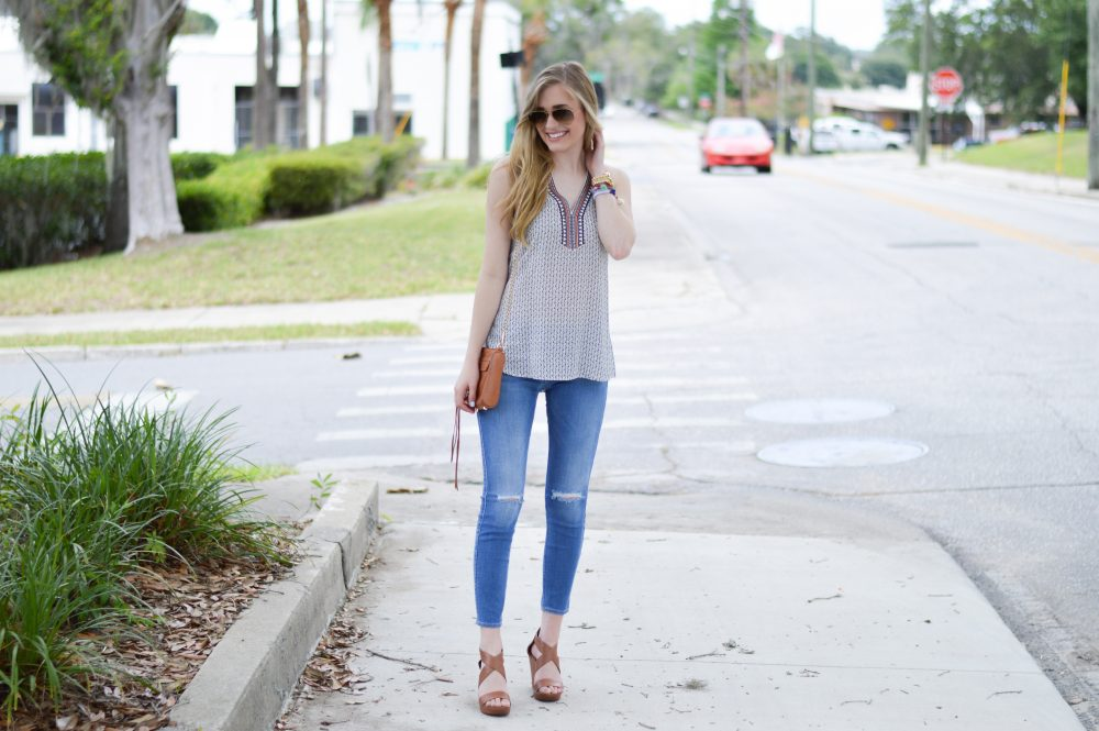 styelled blog, elle elisabeth, thml, bauble bar, ray ban, embroidered, 7 for all mankind, 7 jeans, summer style, summer trends, style blogger, fashion blogger, jessica simpson, wedges, 01