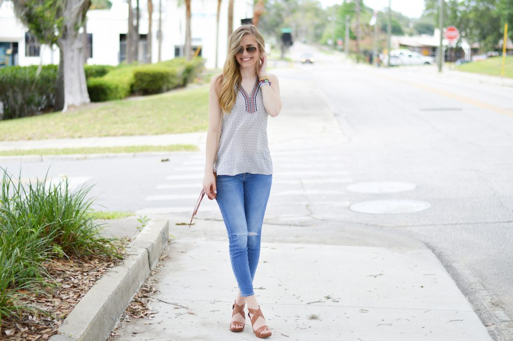 styelled blog, elle elisabeth, thml, bauble bar, ray ban, embroidered, 7 for all mankind, 7 jeans, summer style, summer trends, style blogger, fashion blogger, jessica simpson, wedges, 02