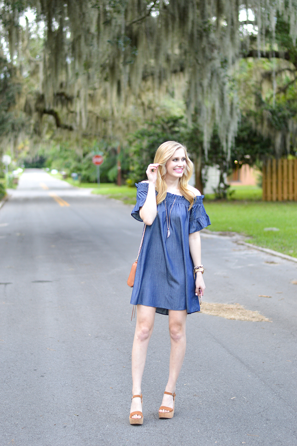 Thistle and Finn: Off the Shoulder Chambray