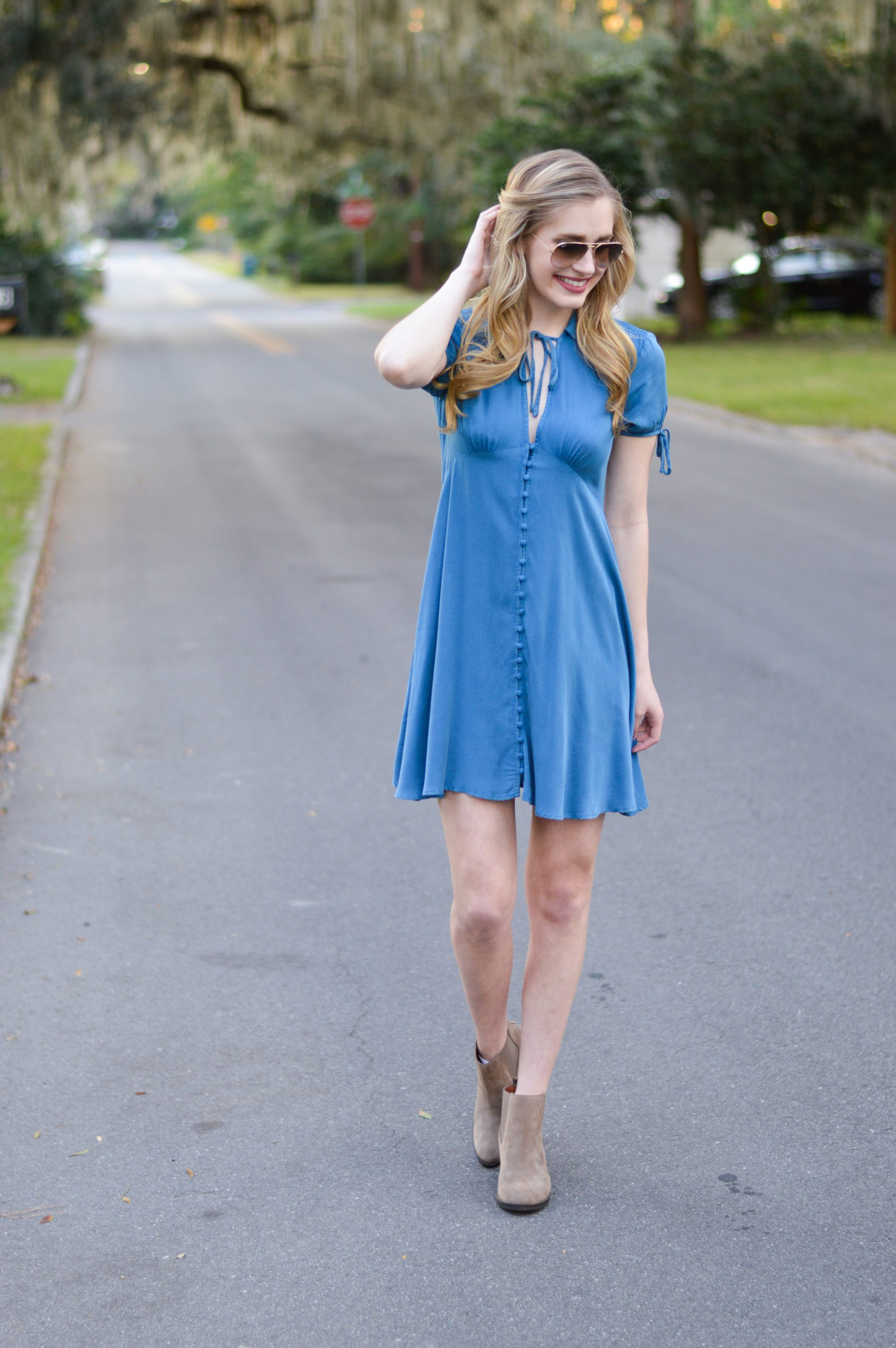 styelled-blog-sweater-weather-fall-70s-style-fashion-blogger-ootd-booties-dress-october-01