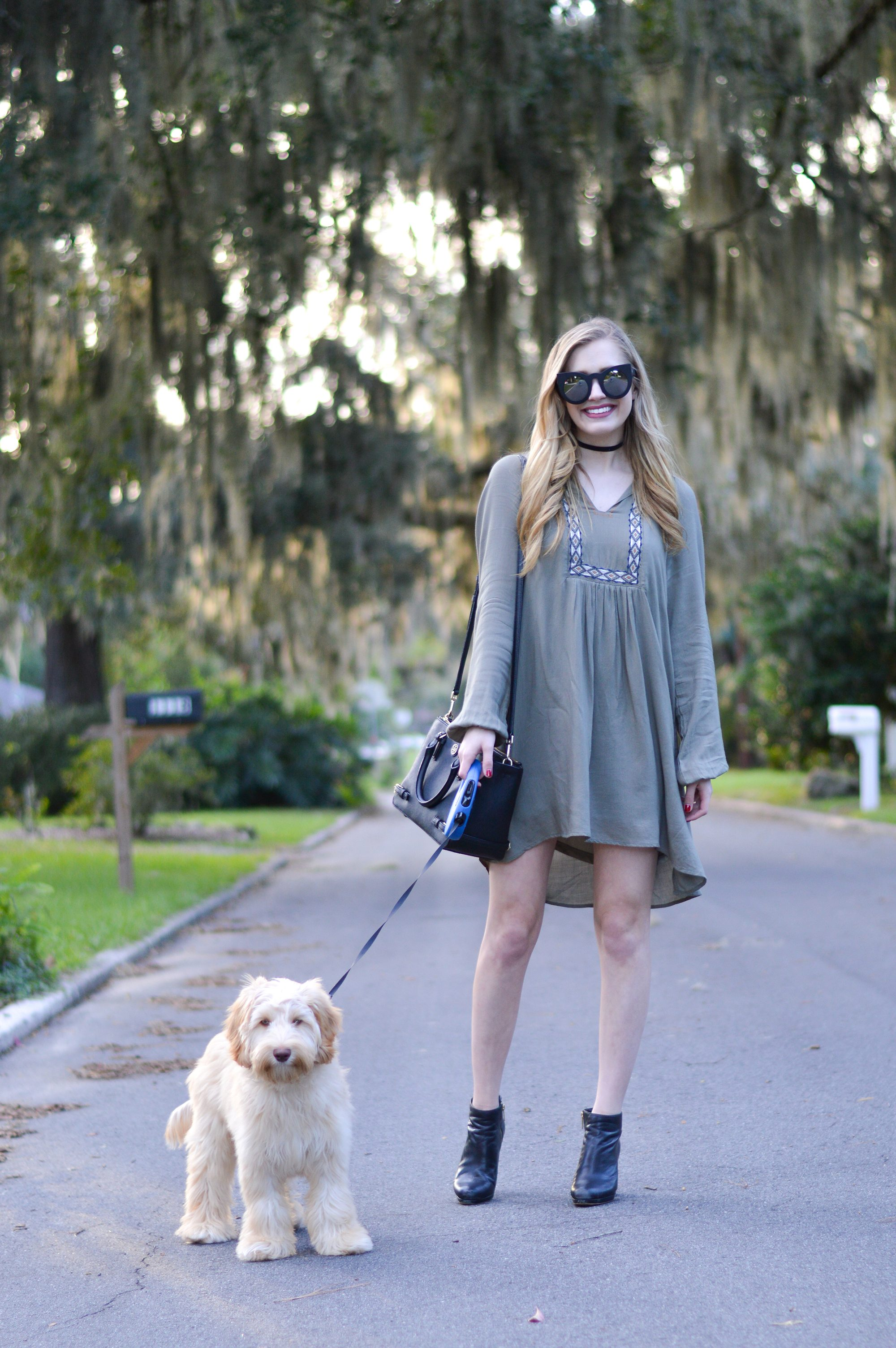 Olive Dresses and Fall Weather Make me Happy