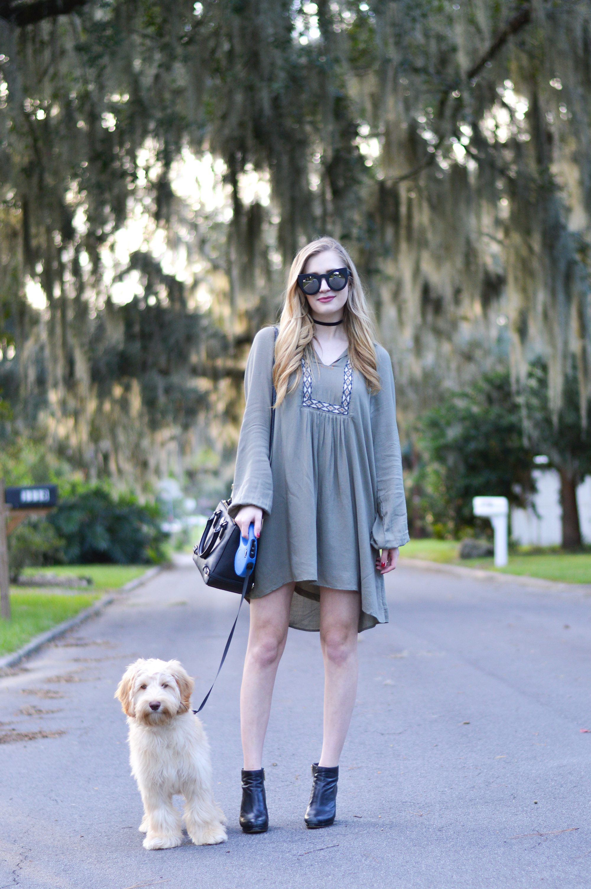 styelled-blog-sweater-weather-olive-labradoodle-fall-style-fashion-blogger-ootd-booties-dress-october-02