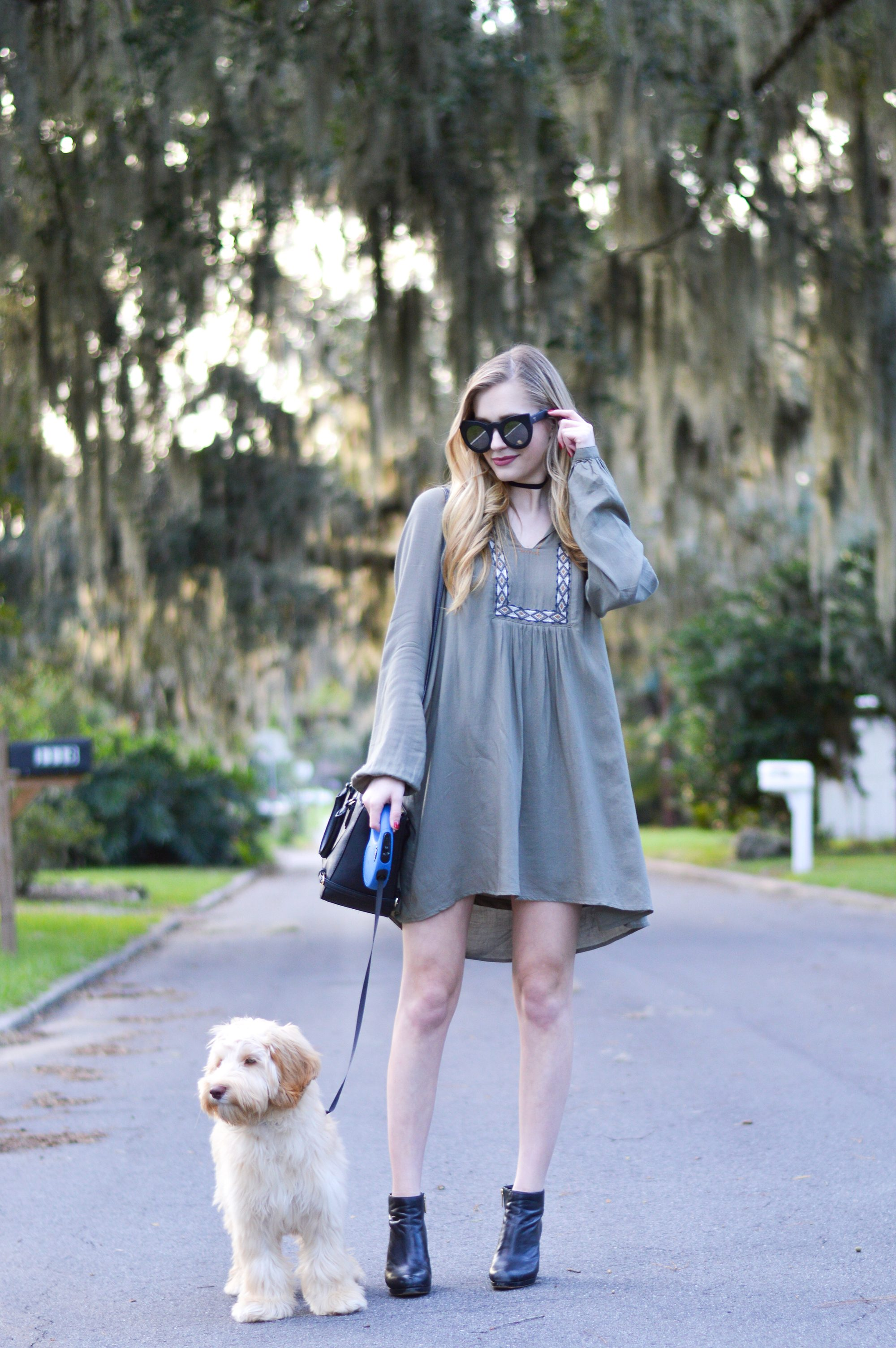 styelled-blog-sweater-weather-olive-labradoodle-fall-style-fashion-blogger-ootd-booties-dress-october-03