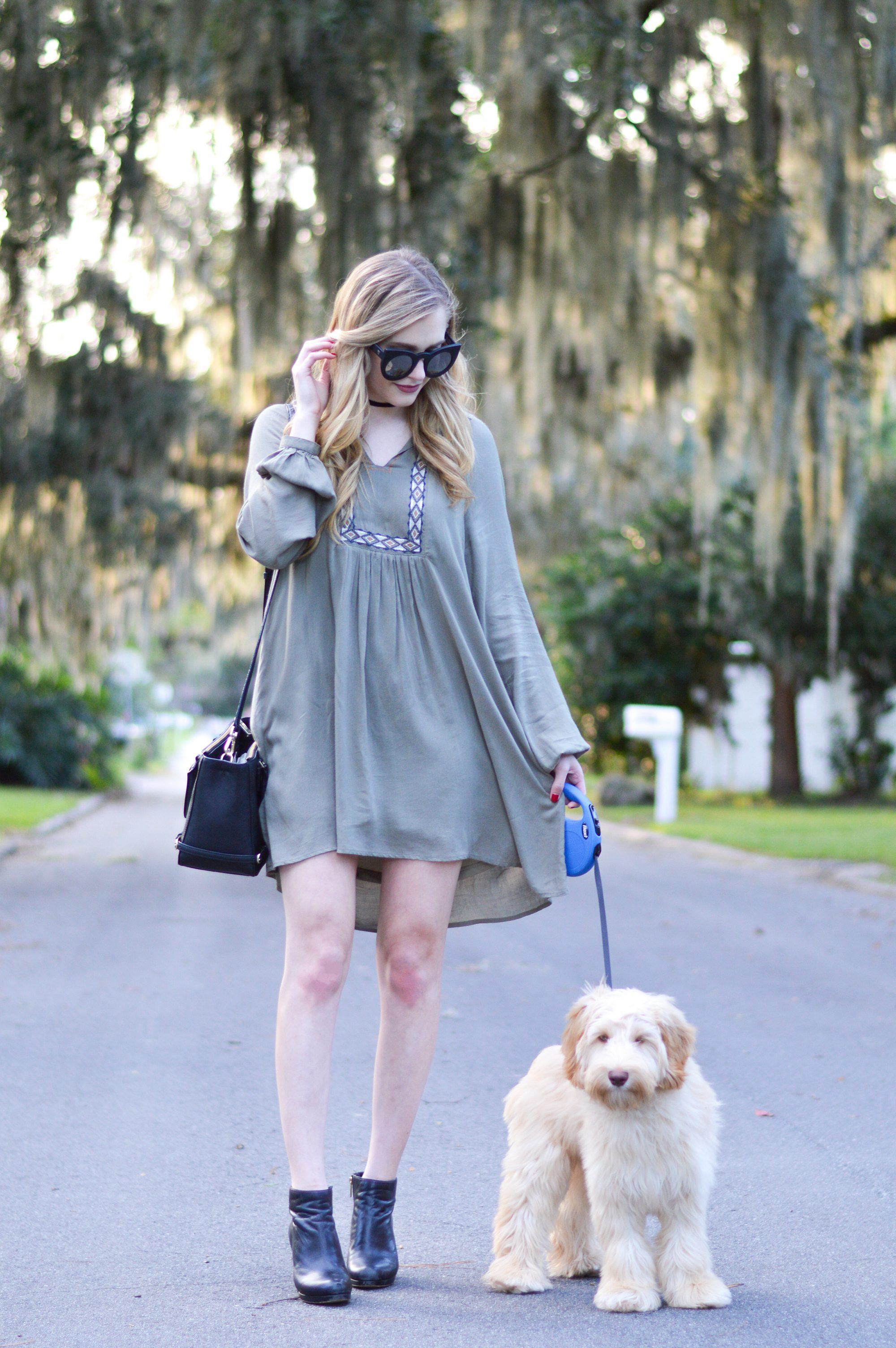 styelled-blog-sweater-weather-olive-labradoodle-fall-style-fashion-blogger-ootd-booties-dress-october-06