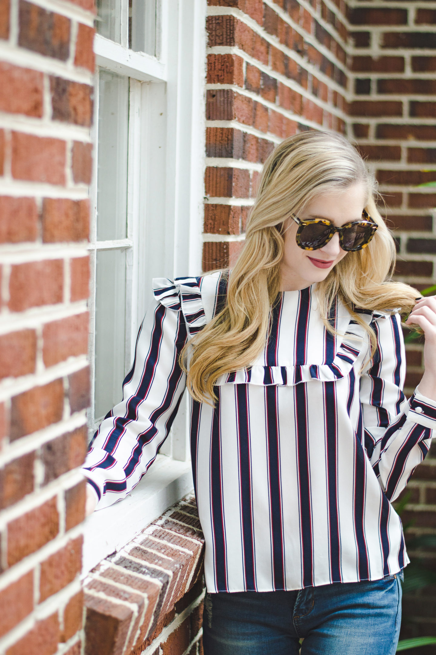 Bringing Back the 70's with Stripes and Ruffles