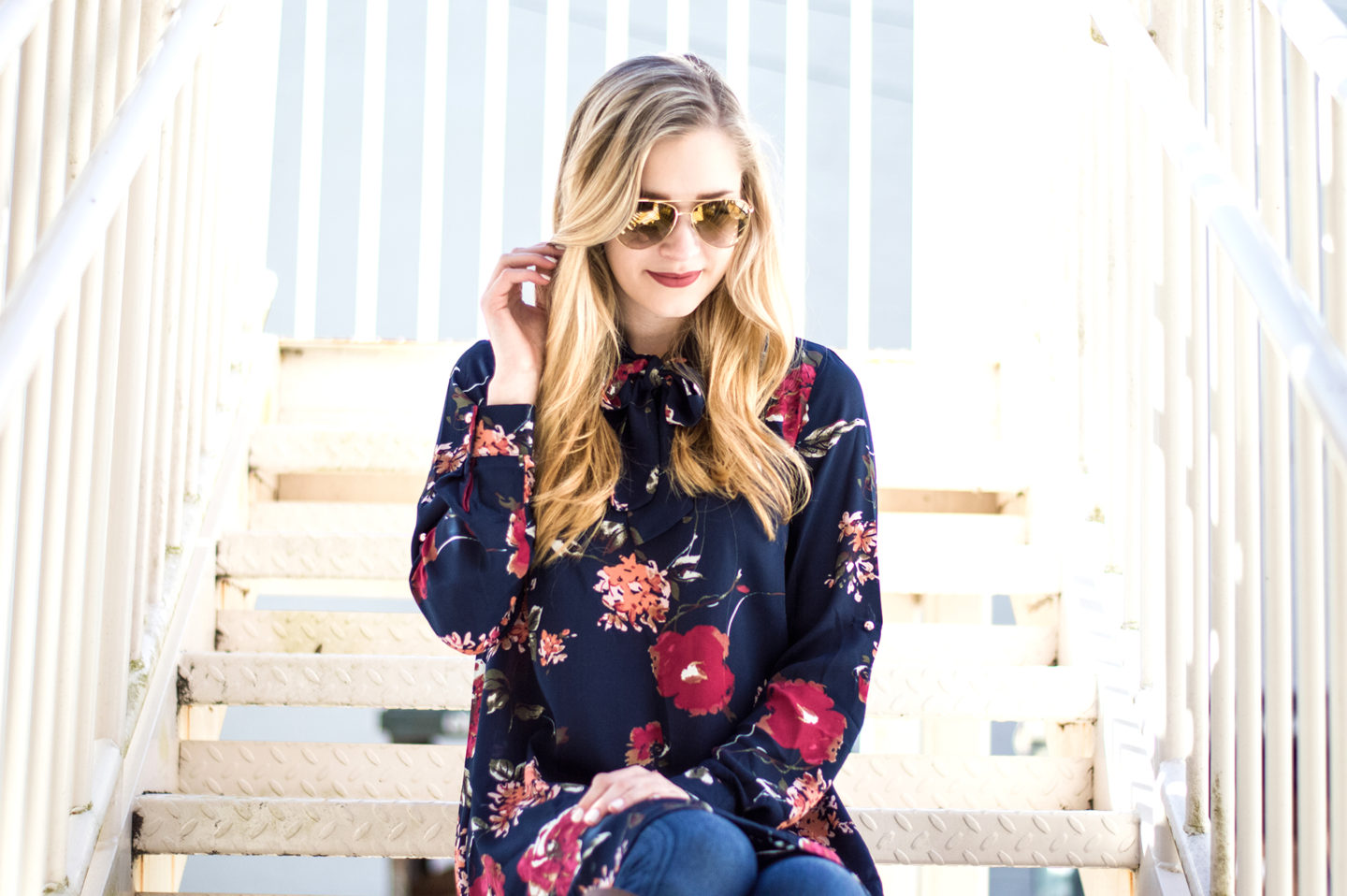 Flirty Floral Tunic for a Daytime Valentine's Date