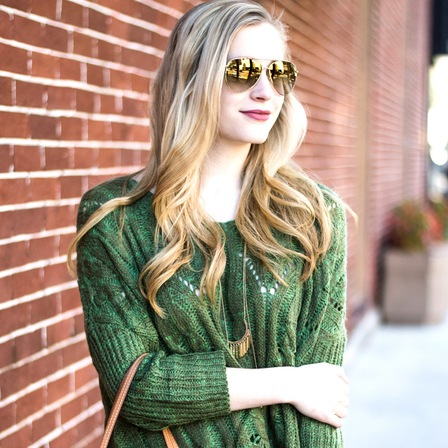 Chunky Knit Sweater in the Cool Florida Weather